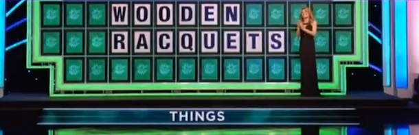 Pat Sajak and Vanna White spell 'racquet' the proper way