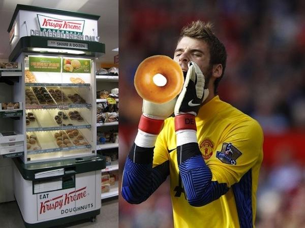 De Gea allegedly caught stealing a single Krispy Kreme doughnut