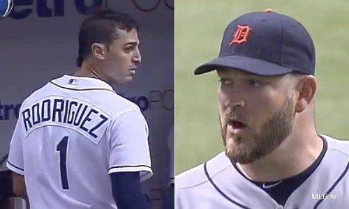 Brad Penny yells at Sean Rodriguez for … swearing?