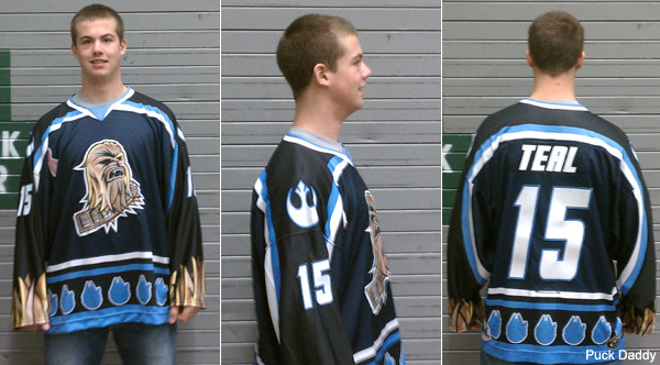 Wookiee sensation: The Star Wars Night Chewbacca hockey jersey