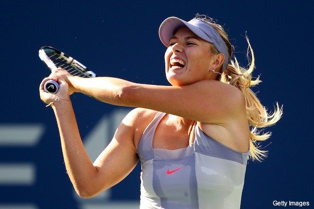 Maria Sharapova grunted her way to a comeback victory
