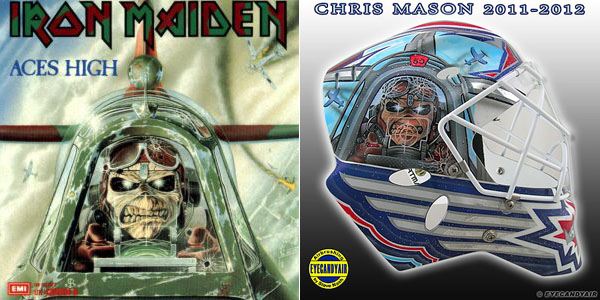 Run to the Mask: Jets goalie Chris Mason's Iron Maiden tribute