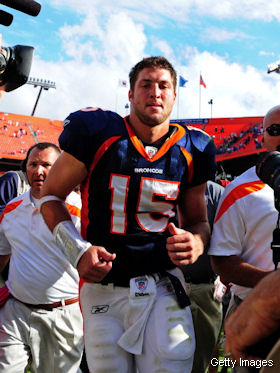 Tim Tebow was not offended by Detroit's Tebowing