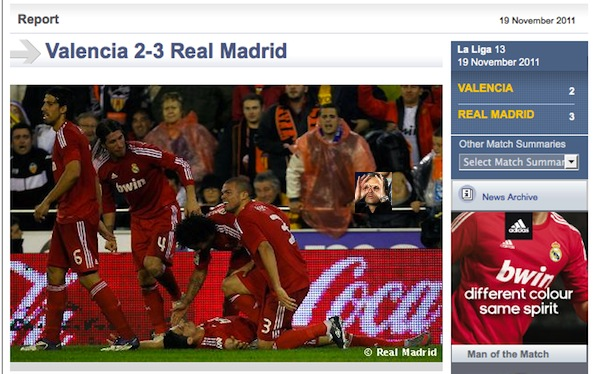 Real Madrid would like you to see Ronaldo getting mooned