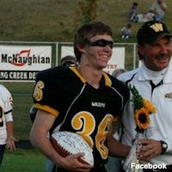 Former Wasatch football player Dale Lawrence in his football uniform
