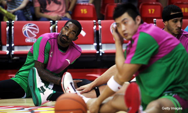 Chinese GM accuses J.R. Smith of faking injury, Stephon Marbury saves day