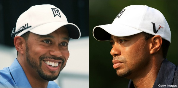 Tiger Woods sports new beard at press conference