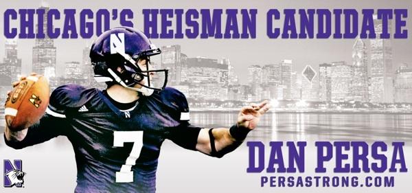 Northwestern weighs in with billboard, dumbells to push Persa's Heisman strength