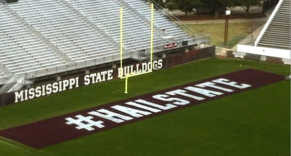 Mississippi State hopes to score (#literally) with Twitter-inspired end zones