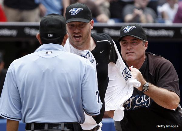 Toronto's Jon Rauch ejected, disrobed in latest reliever meltdown