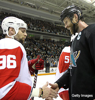 Sharks downplay their domination of the Red Wings