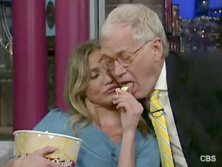 Video: Cameron Diaz talks A-Rod and popcorn on Letterman