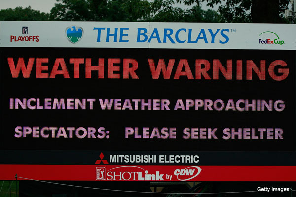 Weather woes throw wrench into Barclays weekend plans