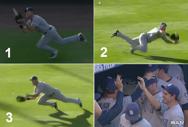 3-in-1: Ryan Ludwick makes a trio of highlight reel grabs in one inning