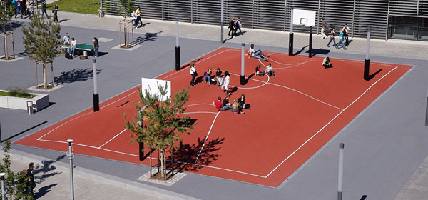 The world's craziest basketball court is in Munich