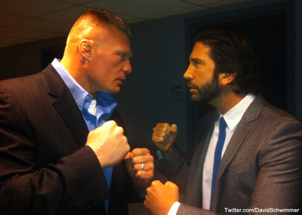 Lesnar meets a 'Friend'