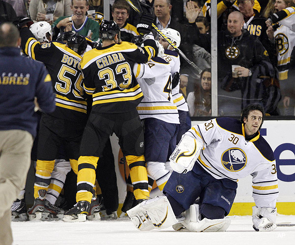 Buffalo Sabres go soft in response to Lucic's run at Miller
