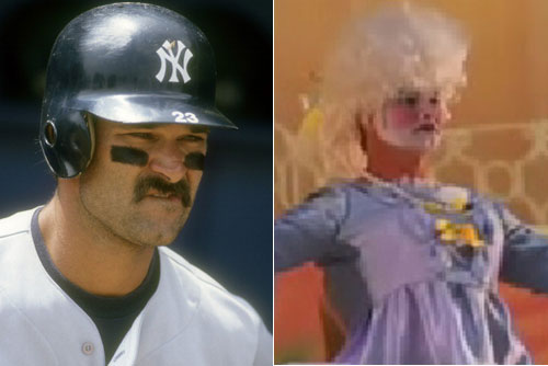 Don Mattingly does his best Mrs. Doubtfire this holiday season