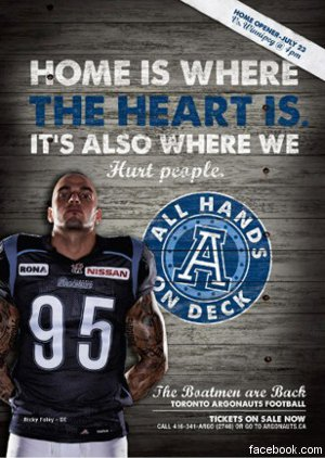 Argonauts pull ad campaign?was it the right move?