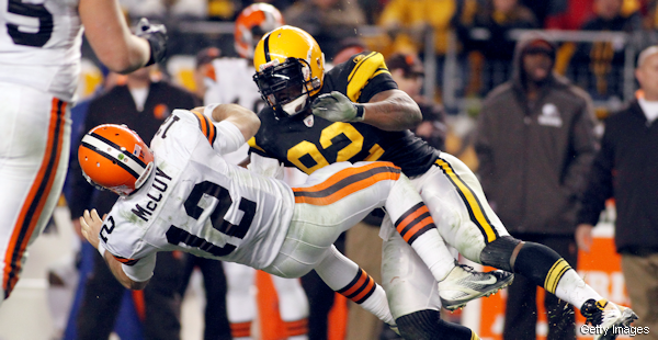 James Harrison has been suspended for one game