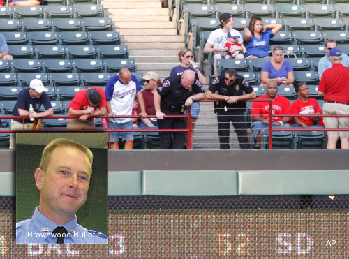 Man dies after falling out of stands at Rangers game