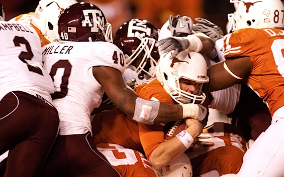 Texas' offensive redemption begins by tending its run-first roots