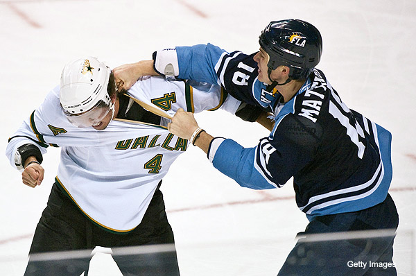 Hockey fighting and the NHL mandatory visor debate