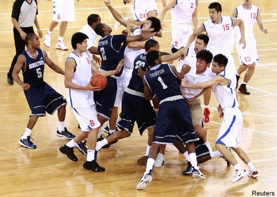brawl breaks out between Georgetown and China basketball teams Wild_brawl_ends_georgetowns_exhibition_game_in_china_early