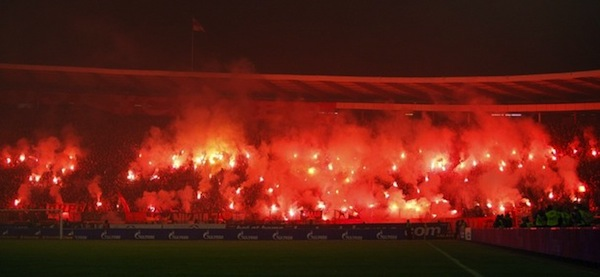The Eternal derby turned into a fireworks fight