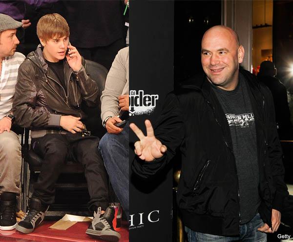 Justin Bieber's Twitter crashed Dana White's phone