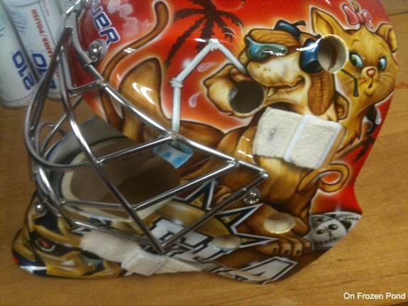 Jose Theodore's mask is a sexy version of Cat Fancy