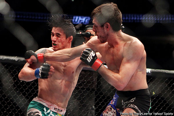 Florian debuts at featherweight with dominant UFC 131 win
