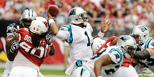 Cam Newton breaks Peyton Mannings first-game rookie passing yardage record