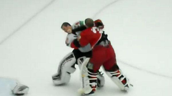 Video: Goalies brawl as KHL goon squad Vityaz strikes again