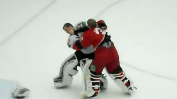 Video: Goalies brawl as KHL goon squad Vityaz strikes again