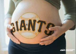 Giants fans compete to birth &#8216;World Championship Baby&#8217;
