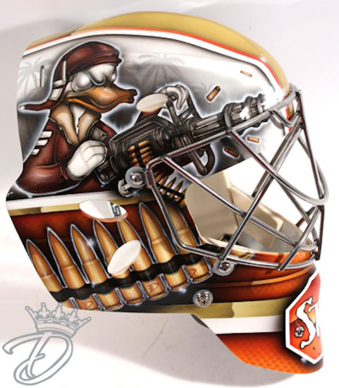 Goalie mask turns Mighty Ducks into gun-crazy angry birds