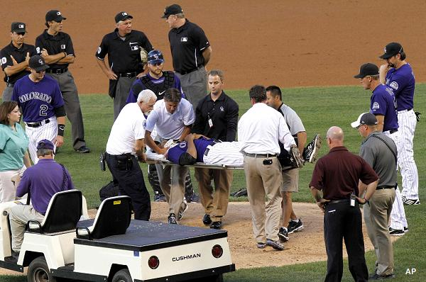 Juan Nicasio has neck surgery after being hit by comebacker