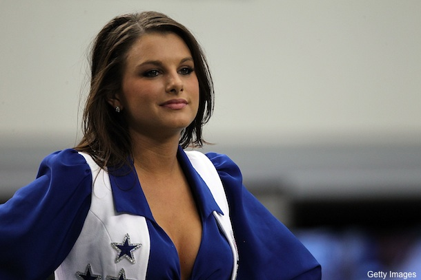 Cowboys cheerleader knocked over by Witten forced off Twitter