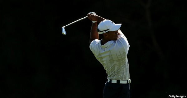 Tiger Woods (yes, that Tiger Woods) is leading a golf tournament