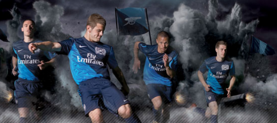 The new Arsenal away kit that Arshavin compared to jockeys clothes