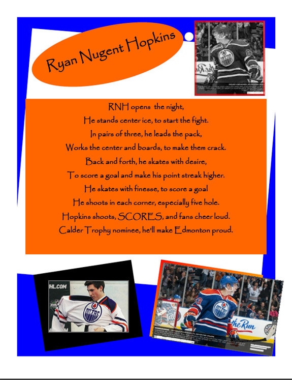 Contest: Ryan Nugent-Hopkins Poetry Slam, Vol. 2