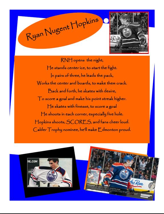 Contest: Ryan Nugent-Hopkins Poetry Slam, Vol. 2