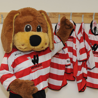 Doncaster fire Donny Dog mascot over her lingerie pictures