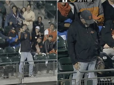 After a shameful drop, Giants TV guys make fan's day