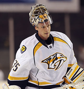 Pekka Rinne on bad ice in Baltimore and the Vezina Trophy