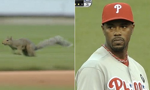 Squirrel! Phillies surge after li'l rodent delays NLDS Game 3