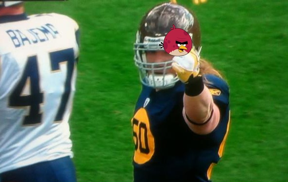 Video: Packers' A.J. Hawk gives middle finger after sack