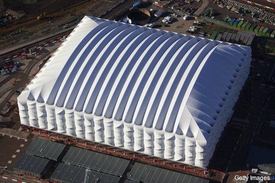 Photos: London's unusual basketball arena ready for Olympics