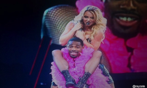 Kenny Britt was handcuffed on stage by Britney Spears